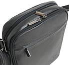 Вертикальна шкіряна чоловіча сумка Always Wild 8021 NDM чорна, фото 4