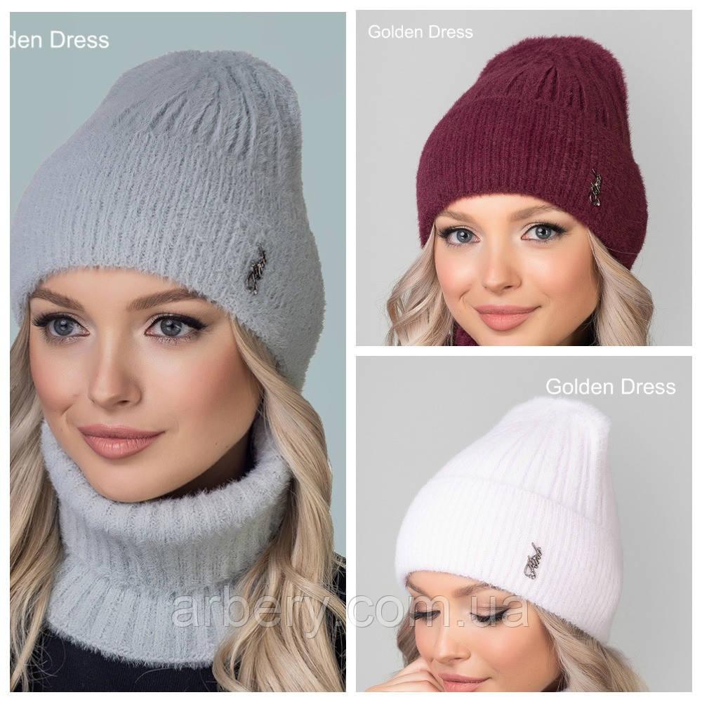 Женский зимний набор (шапка + баф)