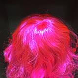 Парик длинный волнистый каскад розовый 50 см, фото 4