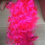Парик длинный волнистый каскад розовый 50 см, фото 5