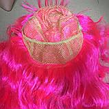 Парик длинный волнистый каскад розовый 50 см, фото 6