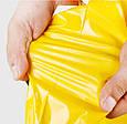Курьерский пакет жёлтый 165х260 + 40 клапан, фото 7