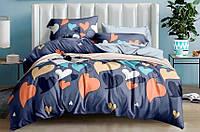 Комплект постельного белья евро Цветные сердца