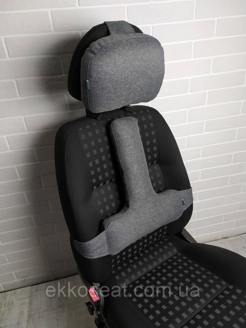 Ортопедичні подушки (набір) під поперек і на підголовник EKKOSEAT в автомобіль