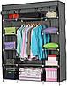 Складной каркасный тканевый шкаф 3 секции FH.TOPY Storage Wardrobe 99150 Органайзер для хранения вещей, фото 3