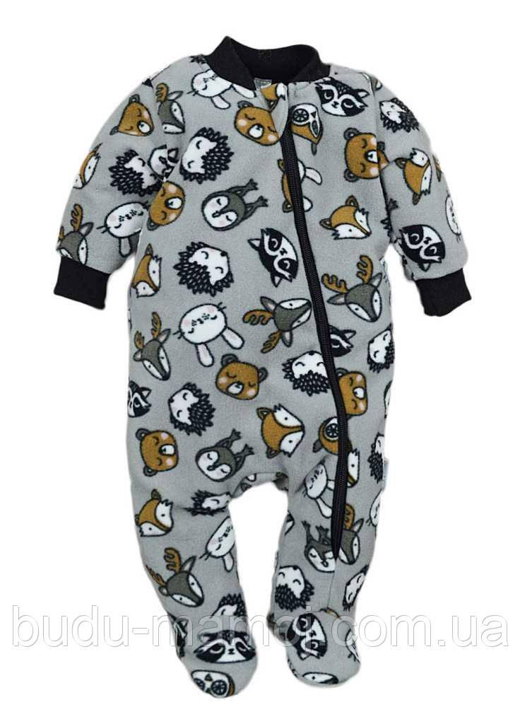 Теплый флисовый комбинезон для новорожденных