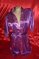 Фиолетовый пеньюар с кружевом, размер 40-42
