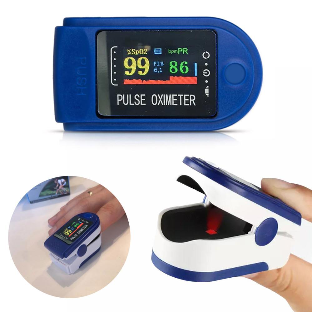 Пульсометр Пульсоксиметр оксиметр на палец для измерения пульса сатурации кислорода в крови беспроводной