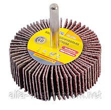 Круг шлифовальный лепестковый зерно 60, 60*20 мм со стержнем 6 мм MASTERTOOL 08-2266