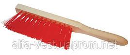 Щетка для мусора с деревянной ручкой 295*25*60 мм ПП 3-рядная ГОСПОДАР 14-5500