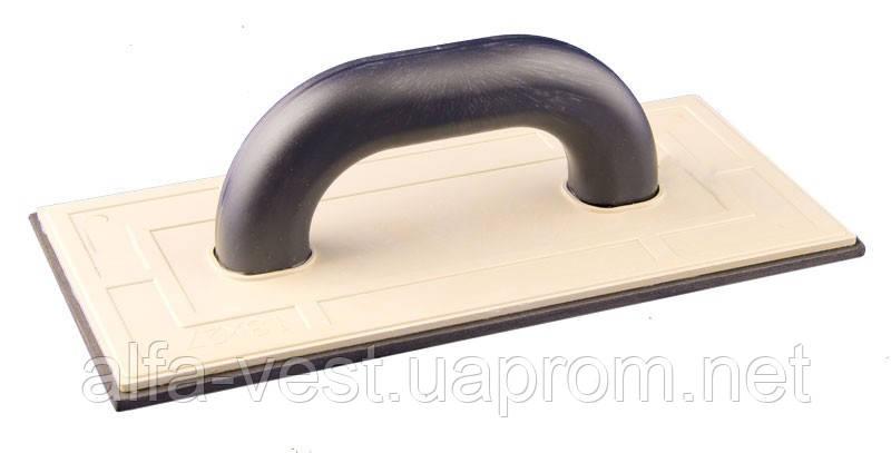 Терка пластиковая 130*270 резина 4 мм MASTERTOOL 08-1304