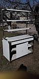Стол с надстройкой 2х ур. с бортом и 2 полками  1200х600х850, фото 6