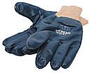 """Перчатки масло-бензостойкие утепленные, нитриловое покрытие, вязаный манжет (синие),10,5"""" 104-108 г MASTERTOOL, фото 4"""