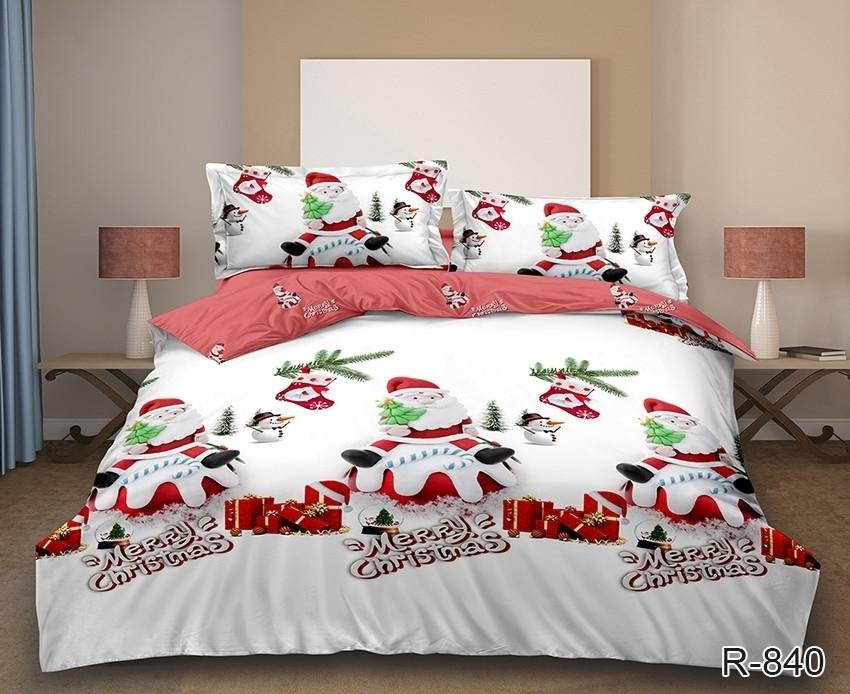 Новогоднее постельное белье Санта комплект семейный