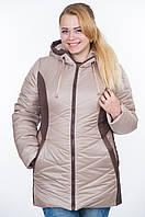 Куртка зимняя № 26 бежевый-шоколад р. 50-56