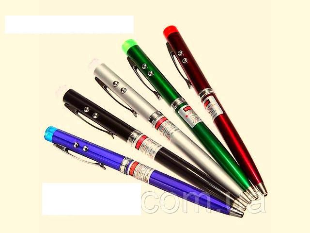 Шариковая ручка 3 в 1 - лазер+фонарик (лазерная указка)