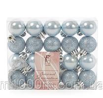 Набір пластикових новорічних куль 20 шт. D-3 див. 11669