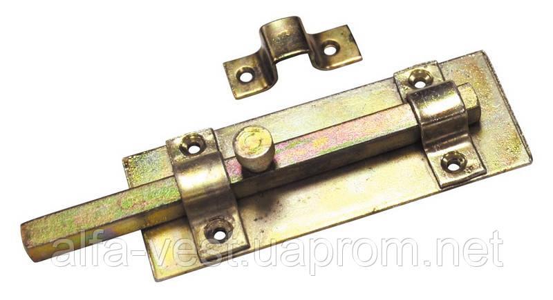 Шпингалет квадратный 140*45 мм оцинкованный ГОСПОДАР 92-0345