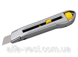Ніж 18 мм подвійний металевий фіксатор MASTERTOOL 17-0078