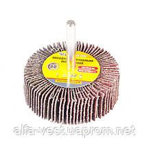 Круг шлифовальный лепестковый зерно 80, 60*20 мм со стержнем 6 мм MASTERTOOL 08-2268