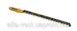 Пильное полотно для лобзика по дереву 5 шт, быстрый фигурный рез,  6TPI, L 100 мм T244D MASTERTOOL 14-2802