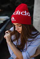 Шапка Adidas/ шапка адидас/ шапка женская/шапка мужская/ красная