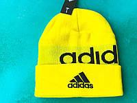 Шапка Adidas/ шапка адидас/ шапка женская/шапка мужская/ желтый