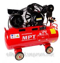 Компресор PROFI 50 л, 1500 Вт/2 л. с., 1050 об/хв, 170 л/хв, 8 атм, мідна обмотка MPT MAC20503B