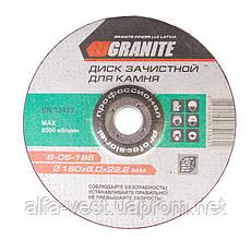 Диск абразивный зачистной для камня 180*6,0*22,2 мм GRANITE 8-05-186