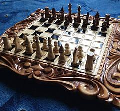 "Шахматы - нарды - шашки "" Лев "" + шкатулка для фигур, фото 2"