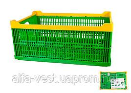 Ящик складной пластиковый  600*400*240 мм синий MASTERTOOL 79-3951