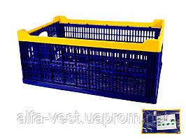 Ящик складной пластиковый  600*400*240 мм зеленый MASTERTOOL 79-3952