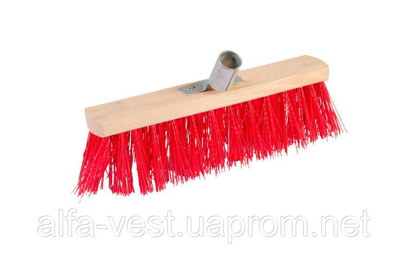 Щетка промышленная  300*70*95 мм ПЭ+ПВХ деревянная с мет. крепл. без ручки ГОСПОДАР 14-6355