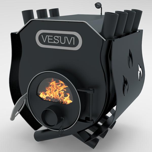 """Печь булерьян """"VESUVI"""" тип 01 с варочной поверхностью c перфорацией со стеклом"""