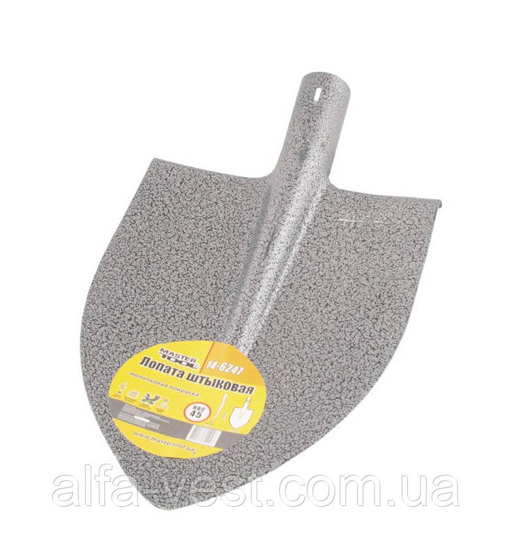 Лопата штыковая 220*300*390 мм молотковая покраска 0,9 кг MASTERTOOL 14-6247