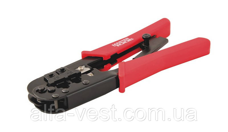 Клещи для обжима штекеров RJ11, RJ12, RJ45 190 мм MASTERTOOL 75-2243