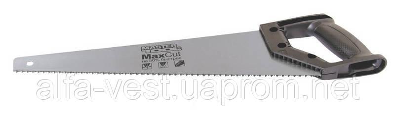 Ножовка столярная 400 мм, 7TPI MAX CUT, каленый зуб, 3-D заточка, полированная MASTERTOOL 14-1940