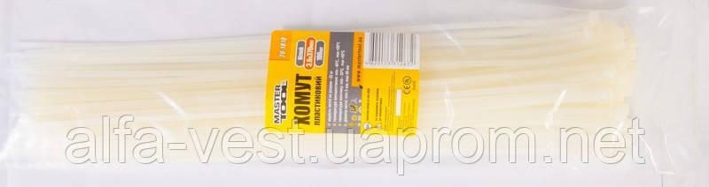 Хомут пластиковый 3,6*370 мм белый, 100 шт MASTERTOOL 20-1810