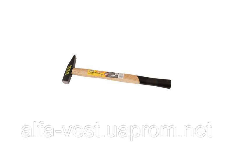 Молоток слесарный, рукоятка из дерева  100 г MASTERTOOL 02-0201