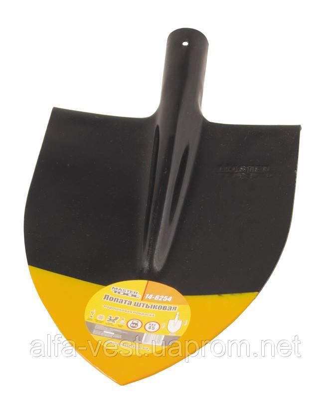 Лопата штыковая 220*300*390 мм черно-желтая покраска 0,9 кг MASTERTOOL 14-6254