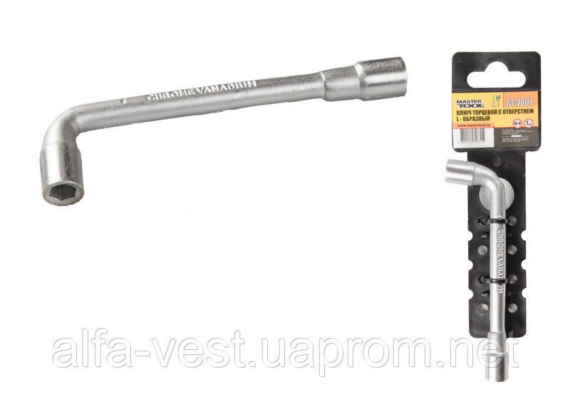 Ключ торцевой с отверстием L-образный  7 мм, CRV MASTERTOOL 73-4007