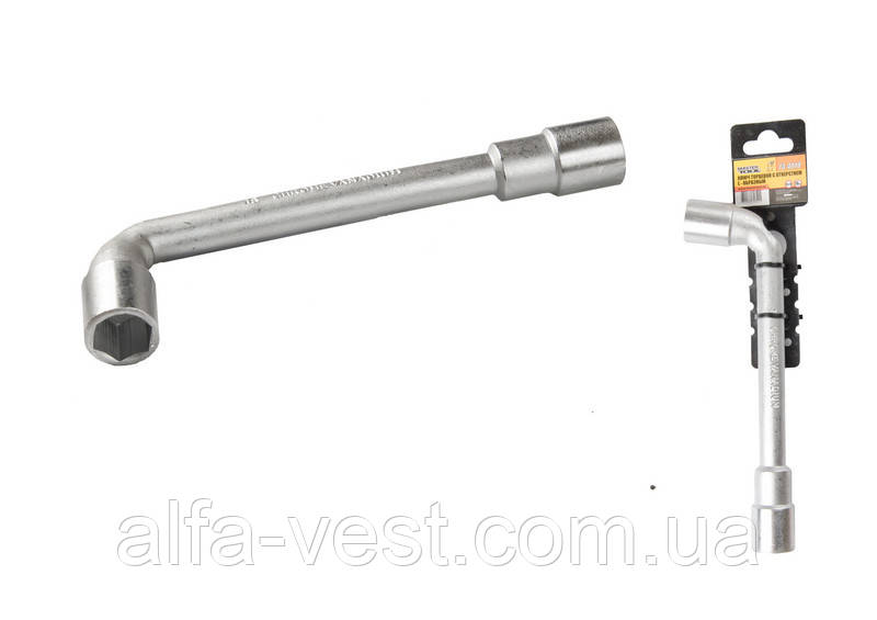 Ключ торцевой с отверстием L-образный 18 мм, CRV MASTERTOOL 73-4018