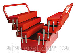 Ящик металлический 330мм, 7 отделений (соб. пр) MASTERTOOL 79-3307