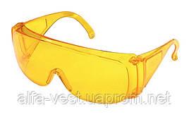 Очки защитные открытые ОЗОН желтые (соб. пр) MASTERTOOL 82-0050