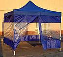 Боковая штора для шатра с прозрачным ПВХ и молнией L-12м., фото 4