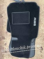 Коврики в салон ворсовые текстильные на БМВ е39 BMW E39 с 1995 до 2004 г черные и серые автоковры