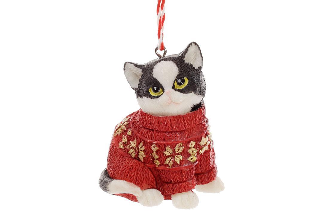 """Новогодняя подвеска """"Котик"""""""