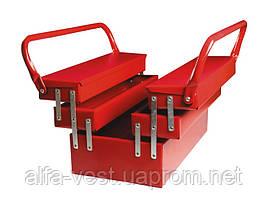 Ящик металлический 330мм, 5 отделений (соб. пр) MASTERTOOL 79-3305
