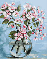 "Картина по номерам ""Цветы сакуры"" 40*50см"