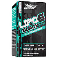 Жиросжигатель Nutrex Research Lipo-6 Black Hers UC, 60 капсул
